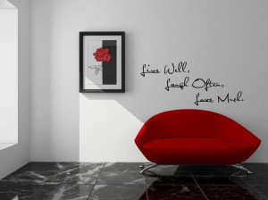 wall quote live well laugh often love much vinyl wall quote quote ...