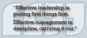 Covey, author of several best-selling management and leadership ...