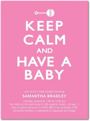 Yet another similarly design baby shower invite , just for the girls.