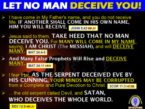 HOW THE WHOLE WORLD IS DECEIVED (Rev 12:9)!