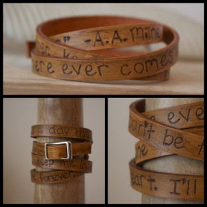 Leather Wrap Quote Bracelet - Winnie the Pooh - A.A. Milne - Mothers ...