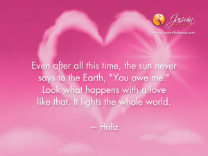 Today's Inspirational Quote by Hafiz
