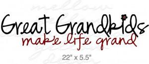 Great Grandchildren vinyl decal wall words art graphics. $12.99, via ...