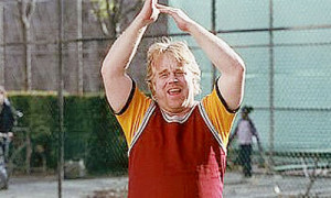 Sandy Lyle from Along came Polly. Phillip Seymour Hoffman is a genius ...