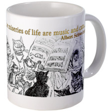 Cats and Music are the escape from life Mugs for