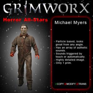 GRIMWORX Horror AllStars - Michael Myers Halloween Decorations