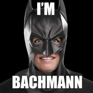 Funny photos funny Michele Bachmann Batman mask