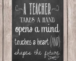 Teacher Appreciation gift, Teacher quote, Teacher printable, A teacher ...