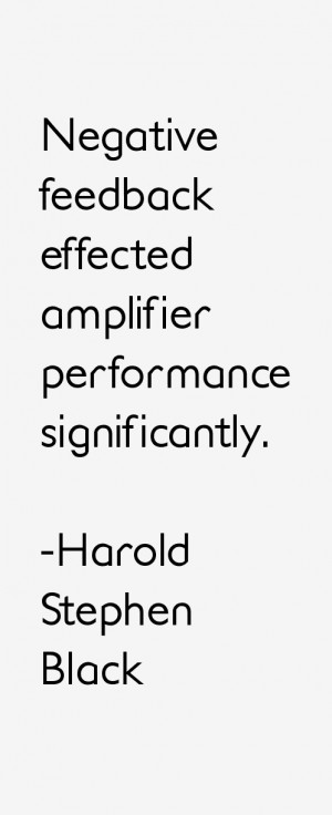 Harold Stephen Black Quotes & Sayings