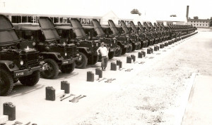 George Miller with M35's ready for Inspection before shipping over to ...