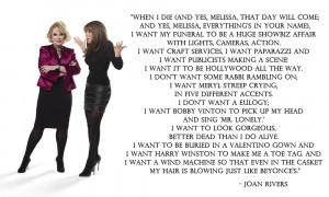 ... celebrity putdowns by Joan Rivers on Perez Hilton's website