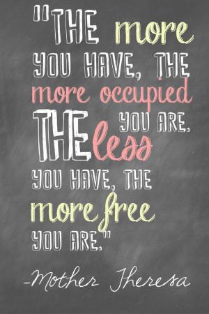Motivational Mondays – Less Stuff, More Life