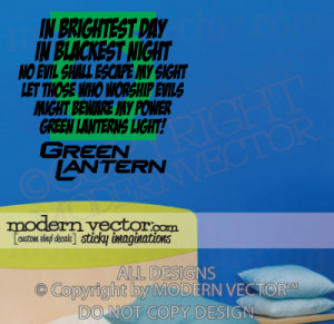 green lantern quotes