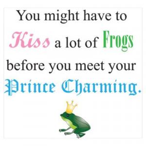 CafePress > Wall Art > Posters > Kiss Frog Prince Poster