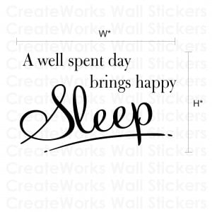 Happy Sleep - Bedroom wall quote sticker - WA260X