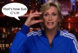 Coach Sue Sylvester is een van de gemeenste personages in Glee. Het is ...