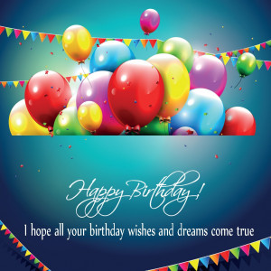 Free Greeting Cards Happy Birthday Balloons with Quotes