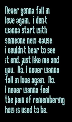 Never Fall Love Again...