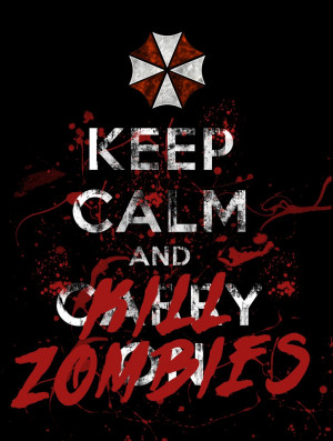 Keep Calm Guam Zombie Credited
