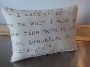 Breakfast at Tiffany's throw pillow handmade by SweetMeadowDesigns, $ ...