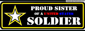 Proud Army Sister Facebook Quote Cover