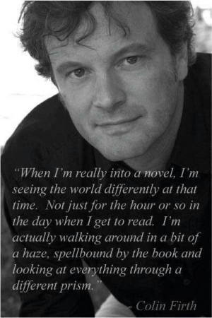 Colin Firth on Books.....