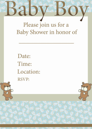 Baby Shower Invitation Quotes Baby Shower Print Invitations Boy Invite ...