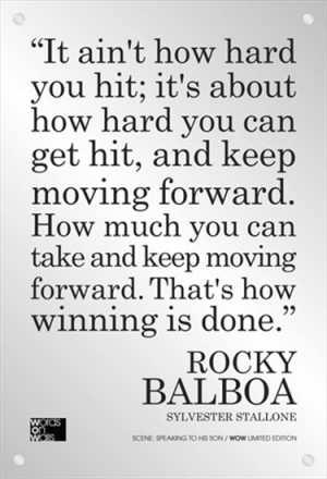 ... Quotes, Winner Quotes, Favorite Quotes, Rocky Movie Quotes, Moving
