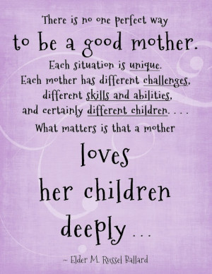 Being a Good Mother