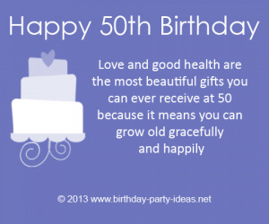 50th Birthday Quotes and Sayings