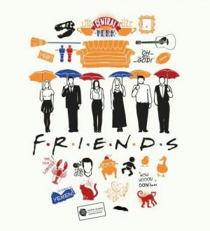Friends poster minimalist tv serie