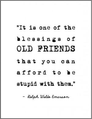 ralph waldo emerson friendship quote minimalist typography print gift ...
