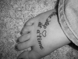 25 Refined Foot Tattoos Quotes