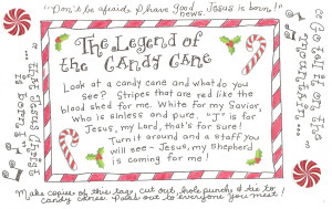 The origin of the candy cane is a complete mystery.