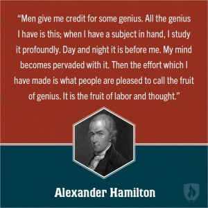 Alexander Hamilton Education Quote