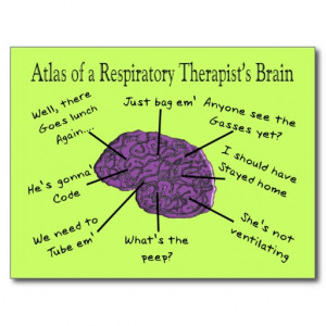Atlas of a Respiratory Therapist's Brain Postcard