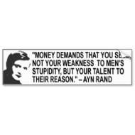 Ayn Rand Quote Bumper Sticker bumpersticker