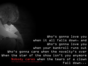 Clown - Mariah Carey Song Lyric Quote in Text Image