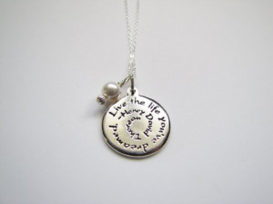 Necklace Inspirational Quotes Jewelry Henry David Thoreau Sterling ...