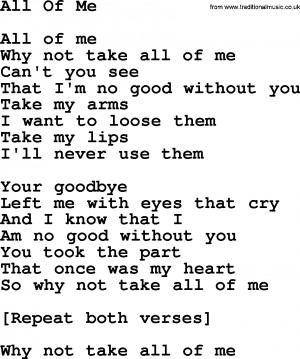 All Of Me Tumblr All of me lyrics - viewing