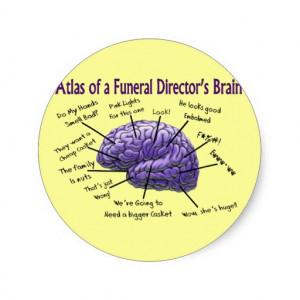Funeral Director Mortician Funny Brain Design Sticker