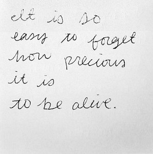 Being Alive Quote