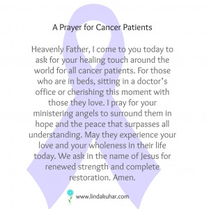 Prayer for Cancer Patients