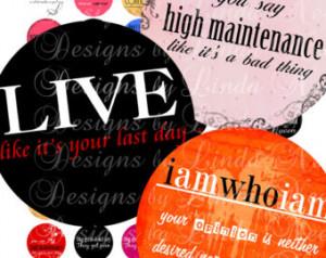 SASSY Quotes (1.5 Inch round) Bottl ecap Images SALE - Digital Collage ...