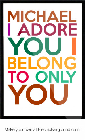 Michael-I-adore-you-I-belong-to-only-you-Framed-Quote-784.png