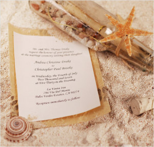 bottle-inspired wedding invitations