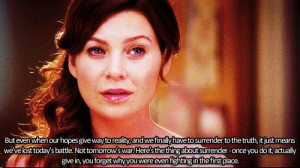 Grey's Anatomyb Meredith Quote