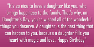it s so nice to have a daughter like you who brings happiness to the ...