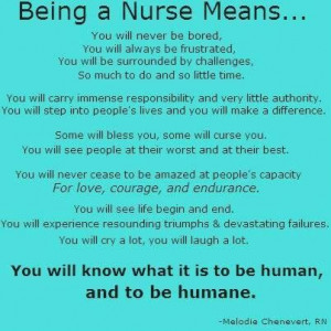 Being a nurse means