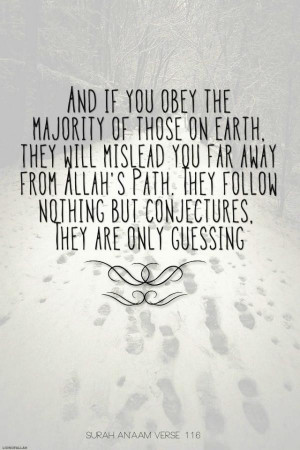 Quran quotes, best, deep, sayings, majority
